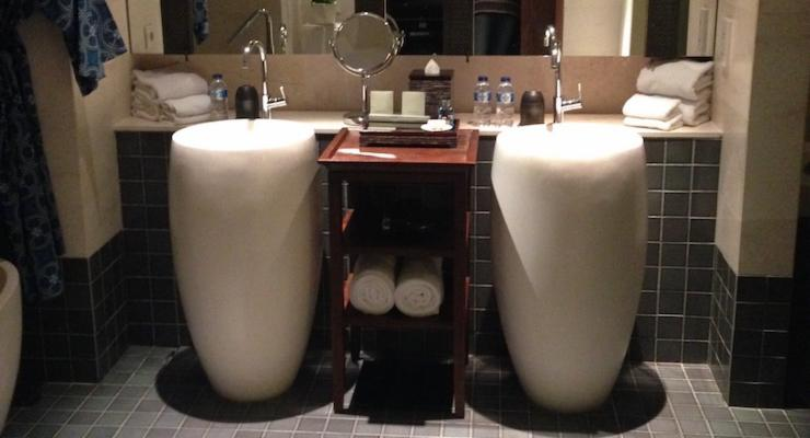 Bathroom at the Fairmont Hotel, Bali. Copyright Sharmeen Ziauddin