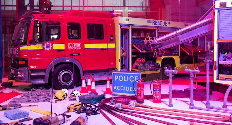 London Fire Brigade pop up museum. Copyright London Fire Brigade.