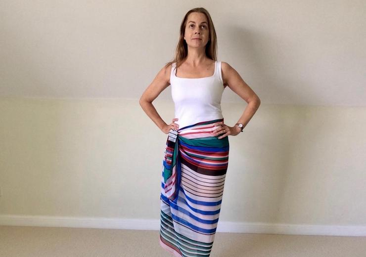 SimplyBe sarong. Copyright Gretta Schifano