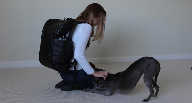 Gretta Schifano wearing Booq Daypack. Copyright Sal Schifano