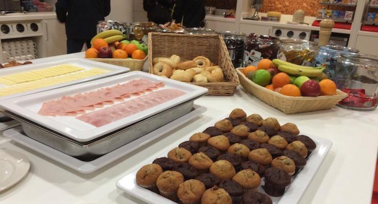Breakfast at Hampton by Hilton Hotel, Gatwick Airport. Copyright Gretta Schifano