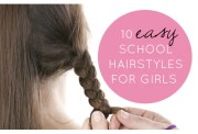 easy school hairstyles girls