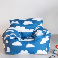 Comfy Chairs For Toddlers Kids Camping Chair Beanbag - Cloud Print Mini Sofa
