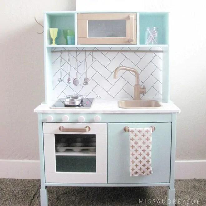 childrens kitchens kitchen cabinets glass doors 13 fun ways to transform the ikea play mum s grapevine kids hack
