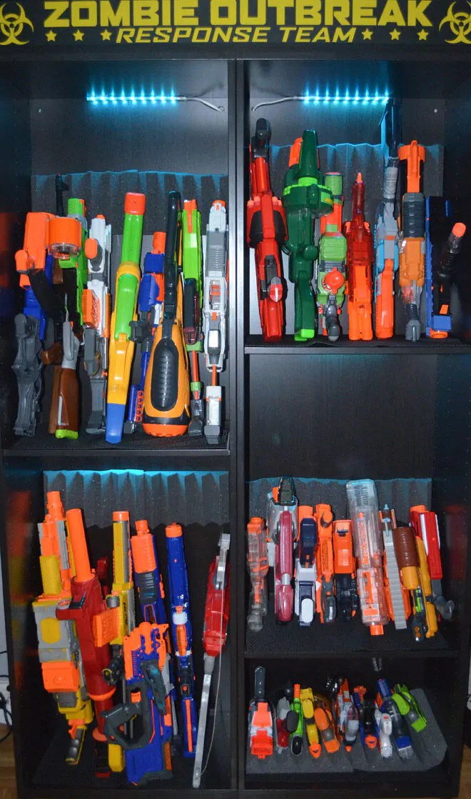 Ready aim tidy 8 ways to store Nerf guns  Mums Grapevine