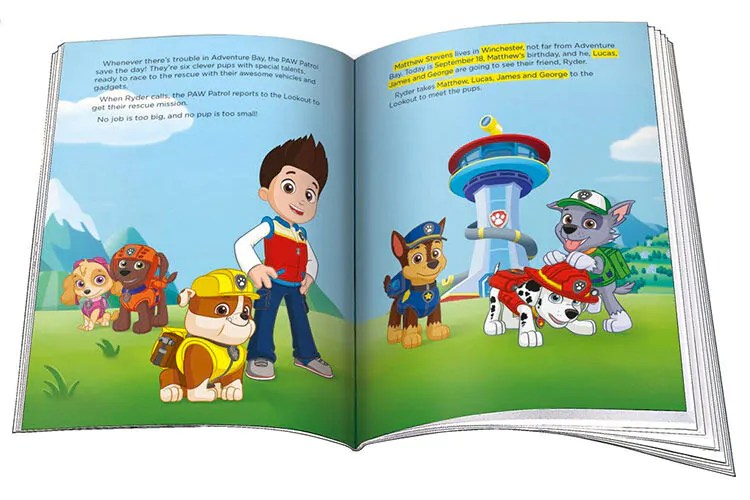12 personalised story books