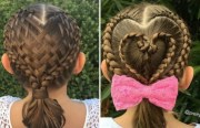 heart french braid hairstyles