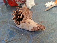 Hedgehog Clay/Pinecone Creature