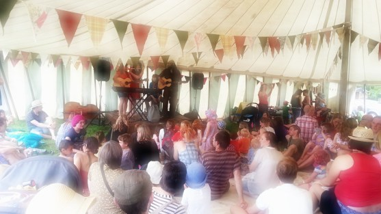 Storytelling in the Kids' Tent