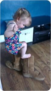 Toddler, wearing mummies shoes, wearing mums shoes, baby