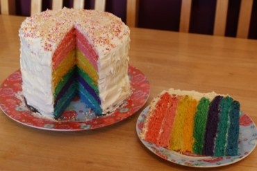 Sponsored Post: World Baking Day – Rainbow Cake