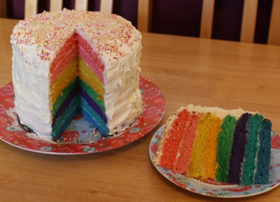 Sponsored Post: World Baking Day – Rainbow Cake 4
