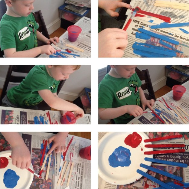 Lollipop Stick Fish - painting
