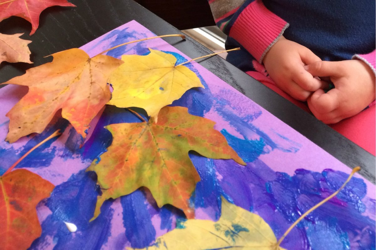 A Collage with Autumn Leaves 5