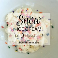 Make: snow ice cream