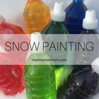 Winter: snow painting