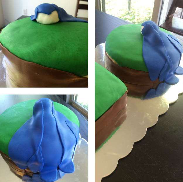 Skylanders Floating Island Cake: Tutorial Stage 3
