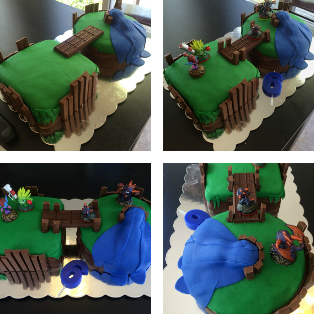 Skylanders Floating Island Cake: Tutorial Stage 6