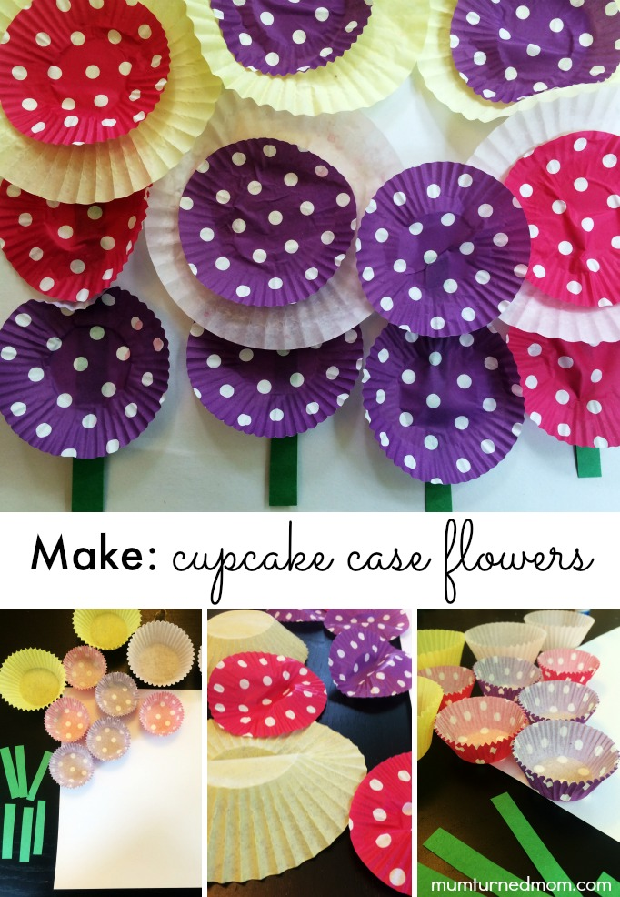 Make: cupcake case flowers