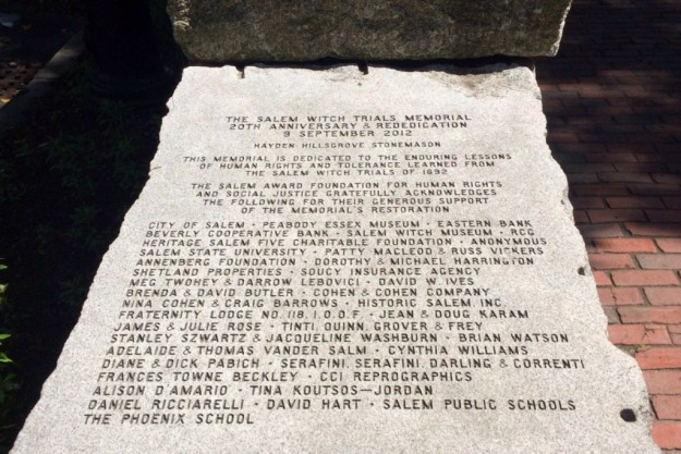 Witch Trial Memorial 1