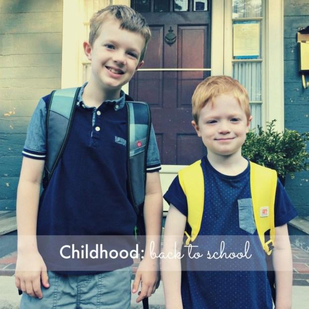 Childhood: back to school