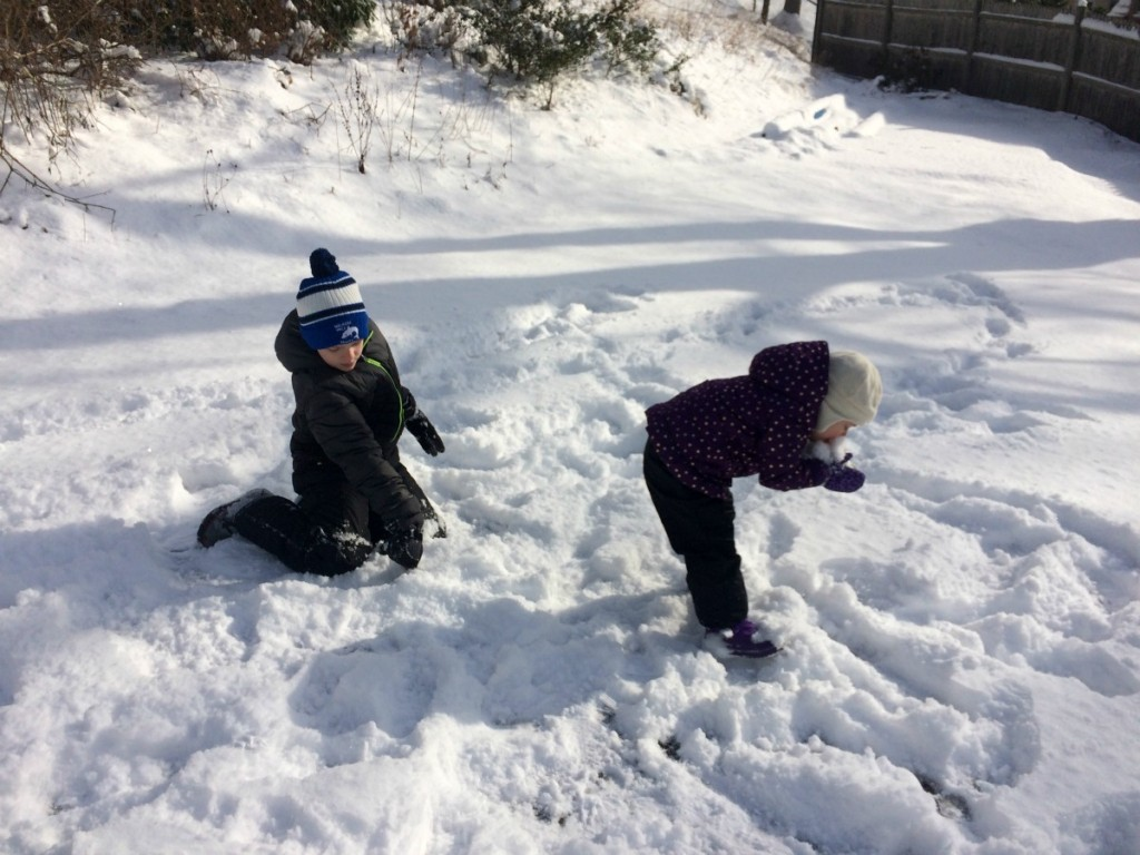 Playing in the snow 6