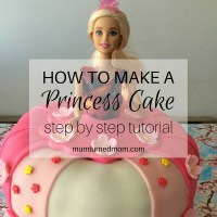 How to make a Princess Barbie Cake with easy step-by-step tutorial