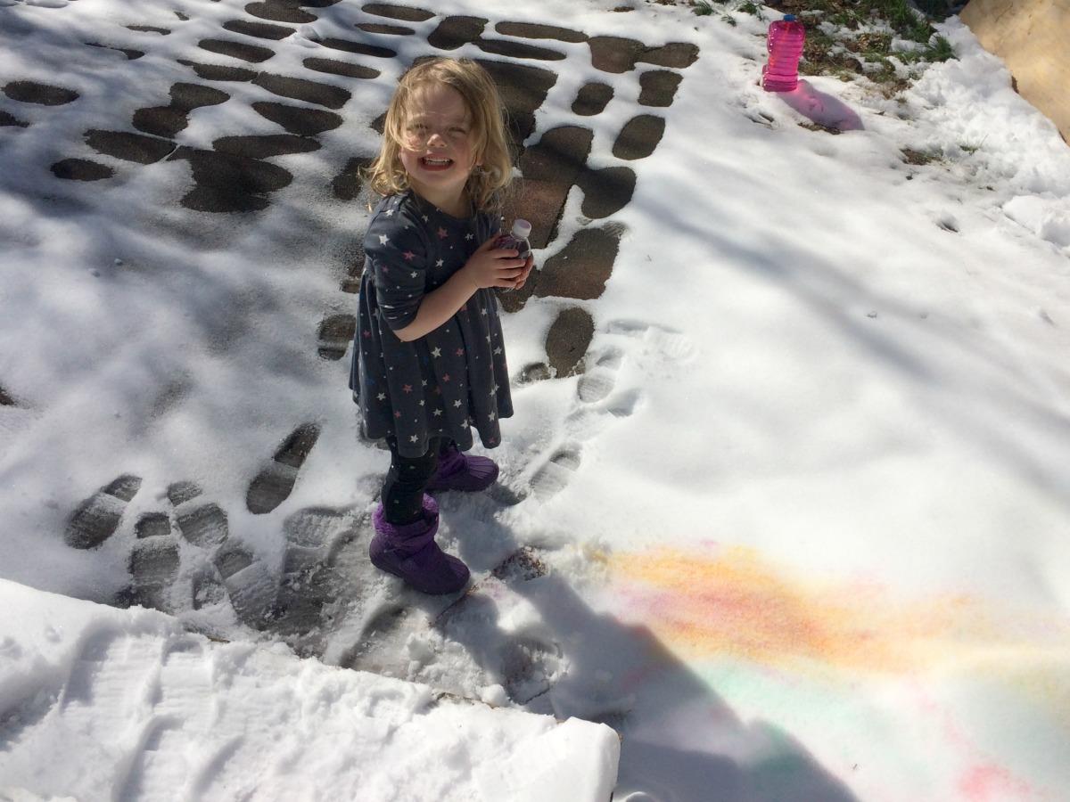 Snow Painting April 14