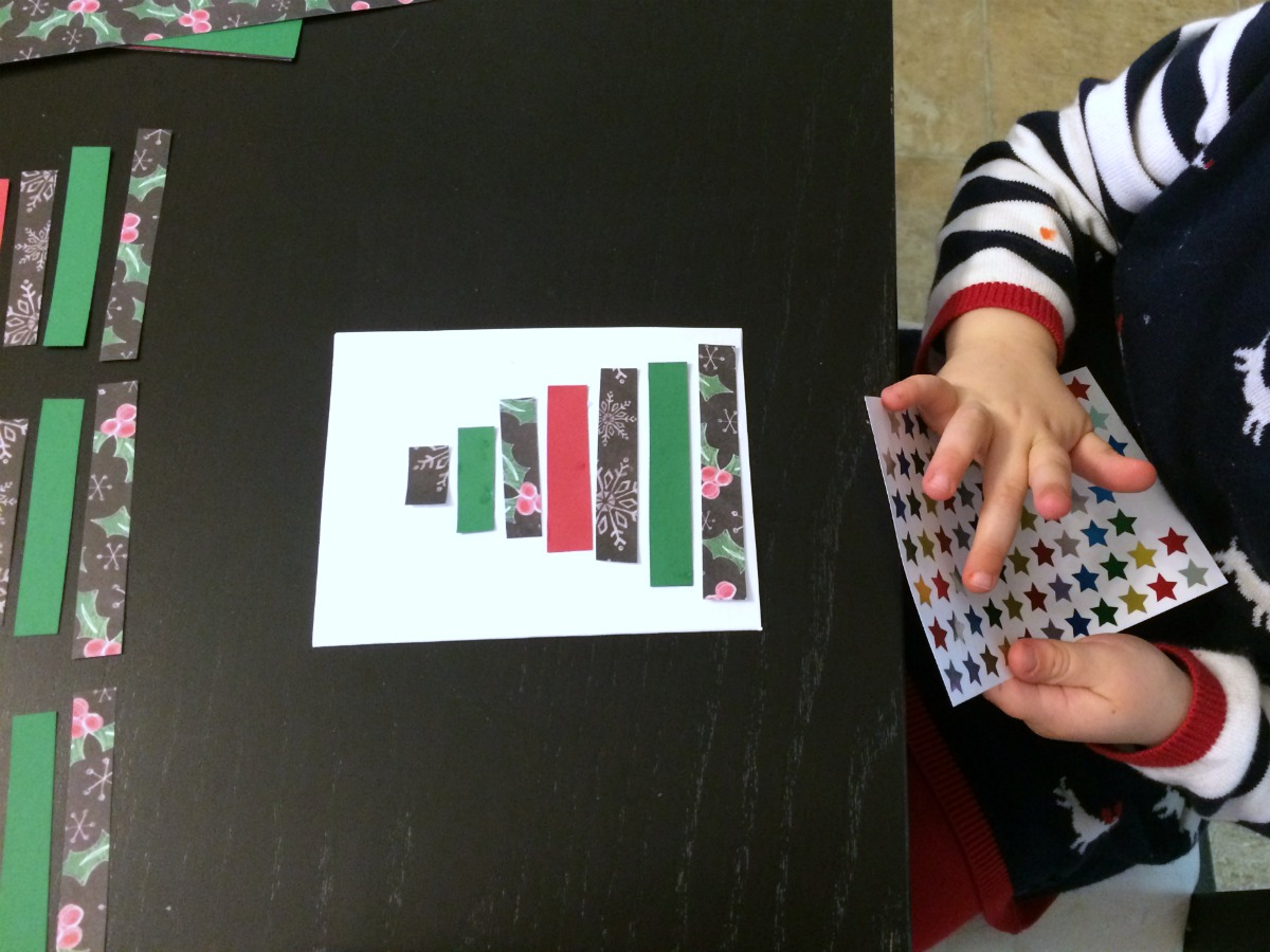Super easy Christmas card craft project 4