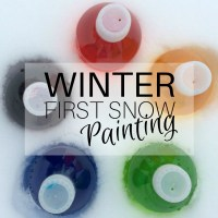 Winter: first snow painting
