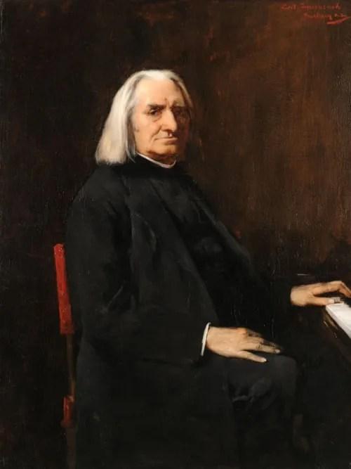 ムンカーチ・ミハーイ《フランツ・リストの肖像》