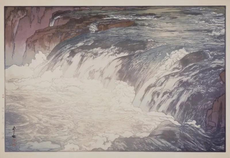 吉田博《溪流》
