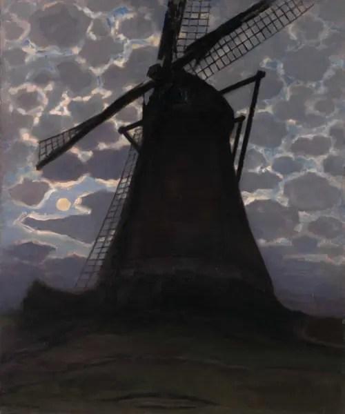 モンドリアン-夕暮れの風車