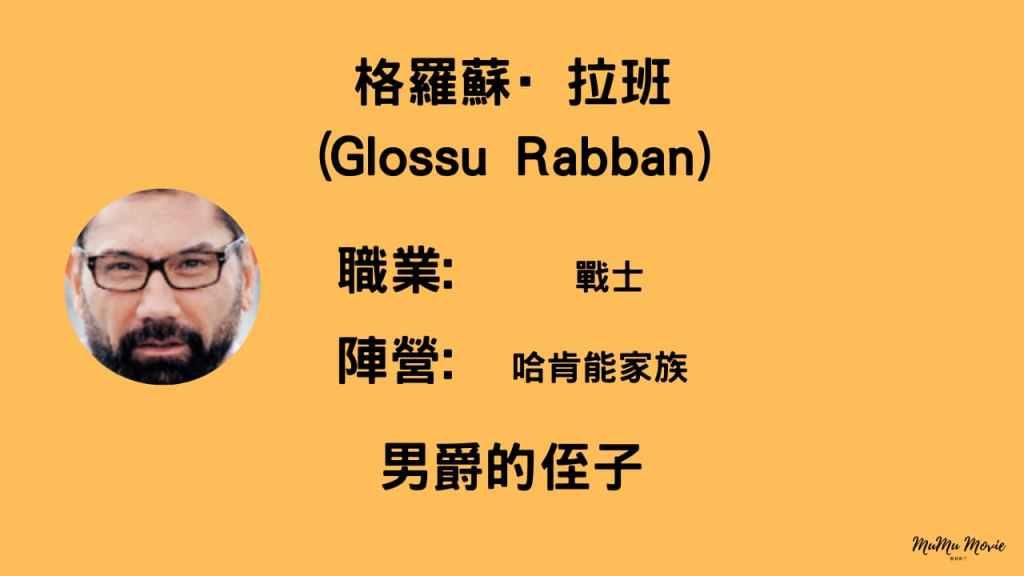沙丘1電影中格羅蘇·拉班Glossu Rabban是誰?