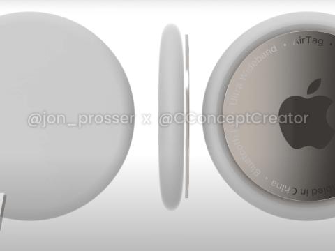 Rumor: Apple's Upcoming AirTags Shown Off in 3D Renders