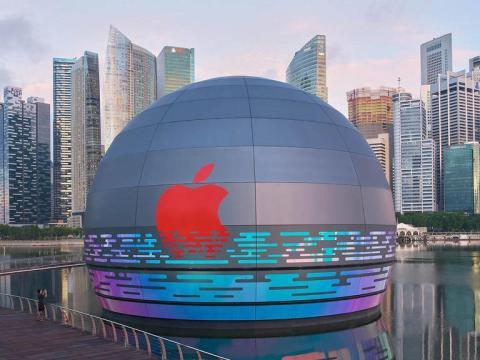 Apple's Floating Store in Singapore Looks Equally Stunning from Inside