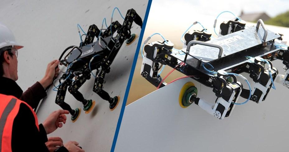 Maintenance Robot Walks on a Wind Turbine's Blade in a World First