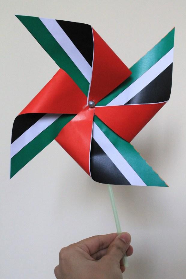 UAE Flag pinwheel