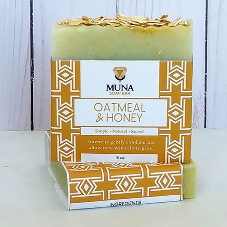Muna Oatmeal & Honey Soap Bar