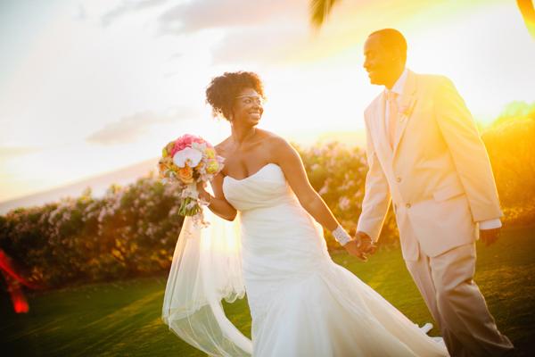 Real Hawaii Destination Wedding Jocelyn  Frederick Munaluchi Bride