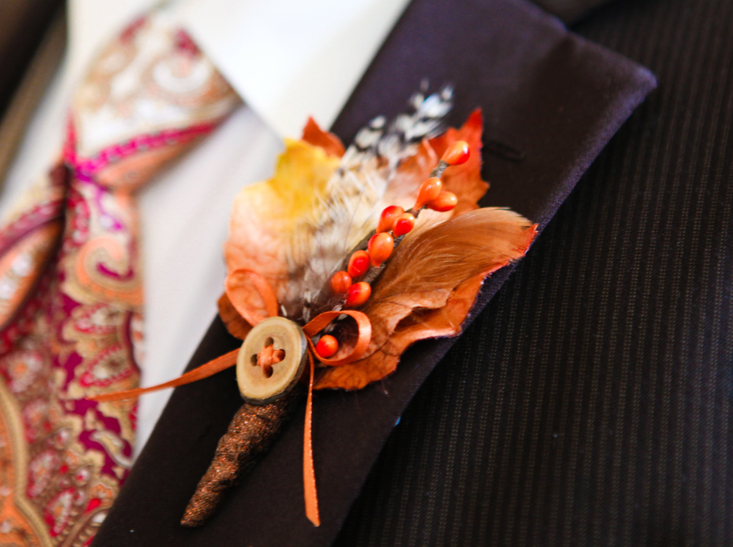 Fall Inspired Boutonnieres
