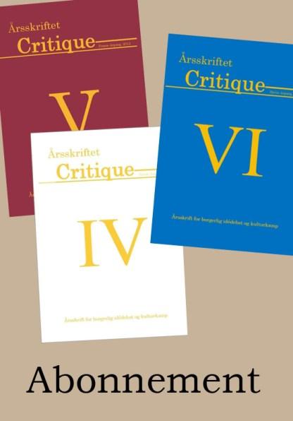Bliv abonnent på Årsskriftet Critique