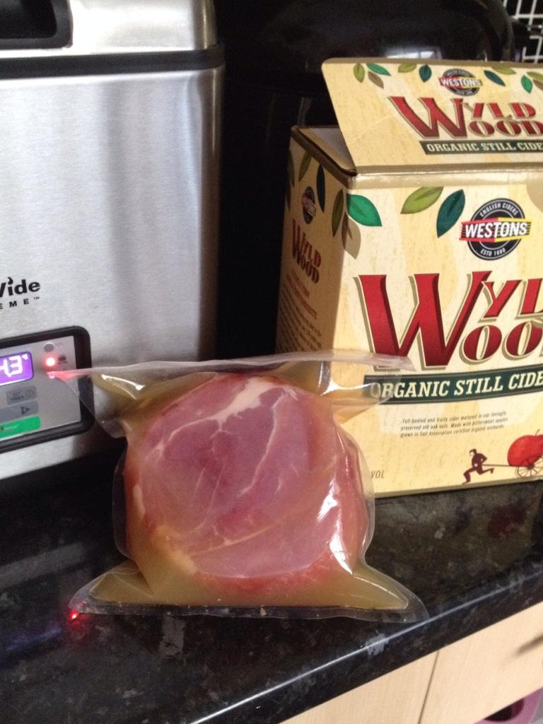 Wyldwood cider and ham
