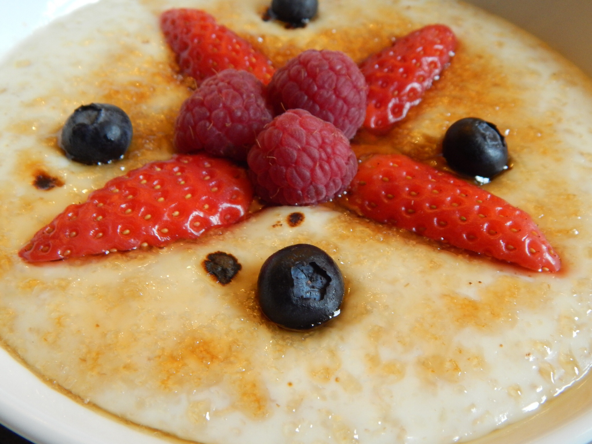 Whisky glazed porridge