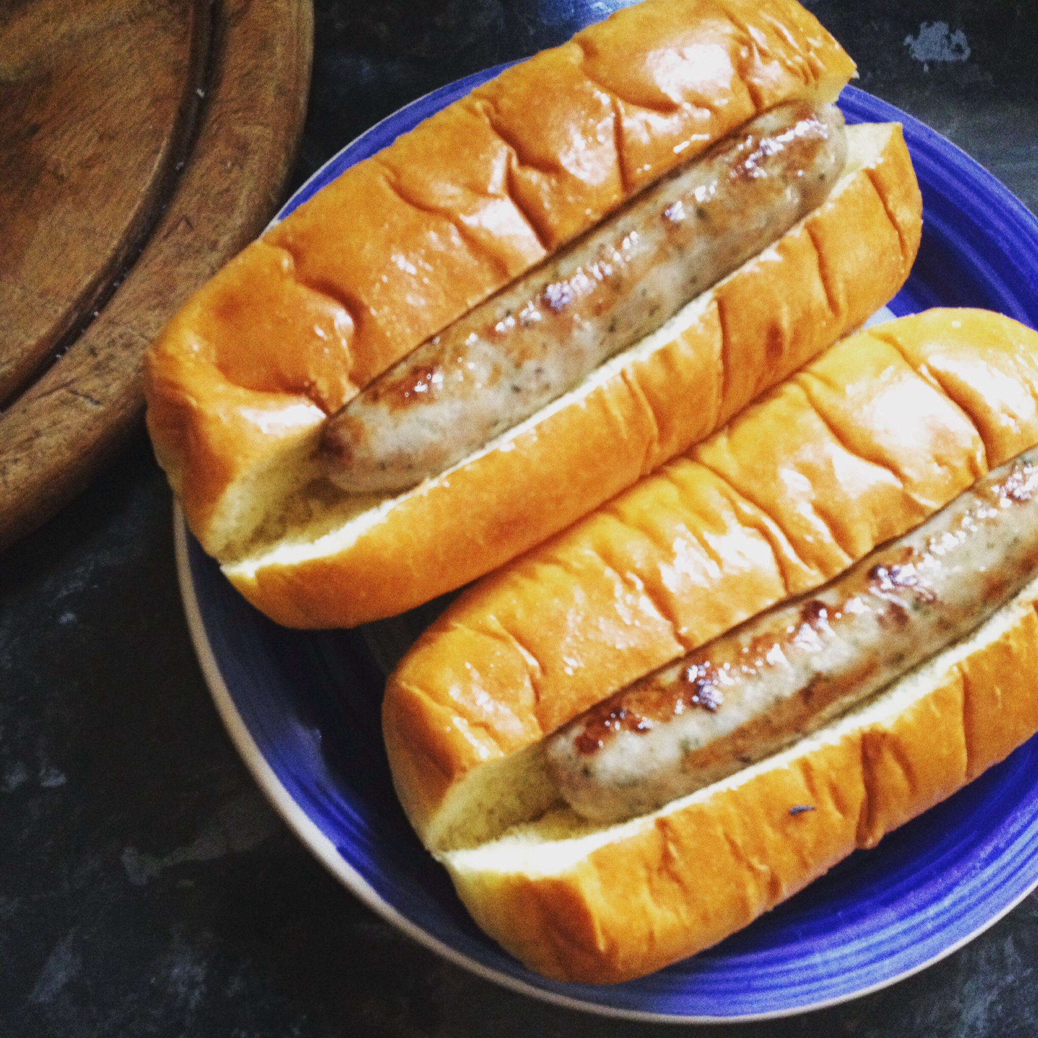 Aldi brioche buns marks and Spencer lamb sausages