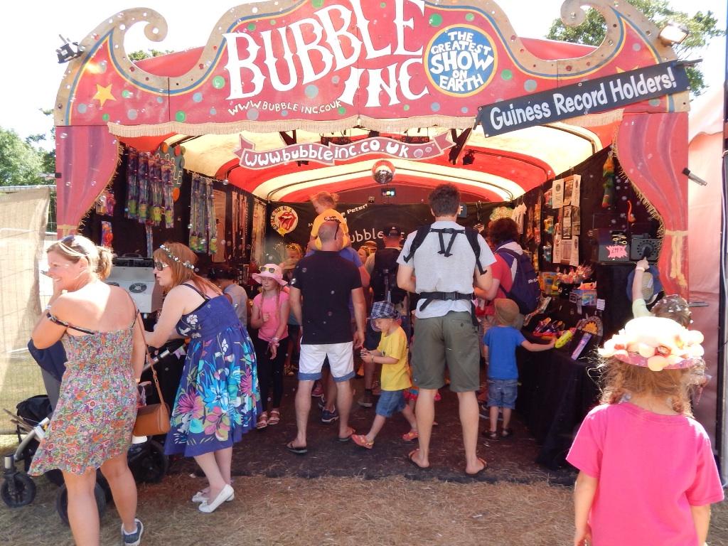 Bubble Inc camp Bestival