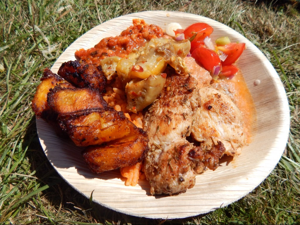 Zoe's Ghana kitchen at camp Bestival