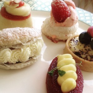 Celtic manor pastries afternoon tea