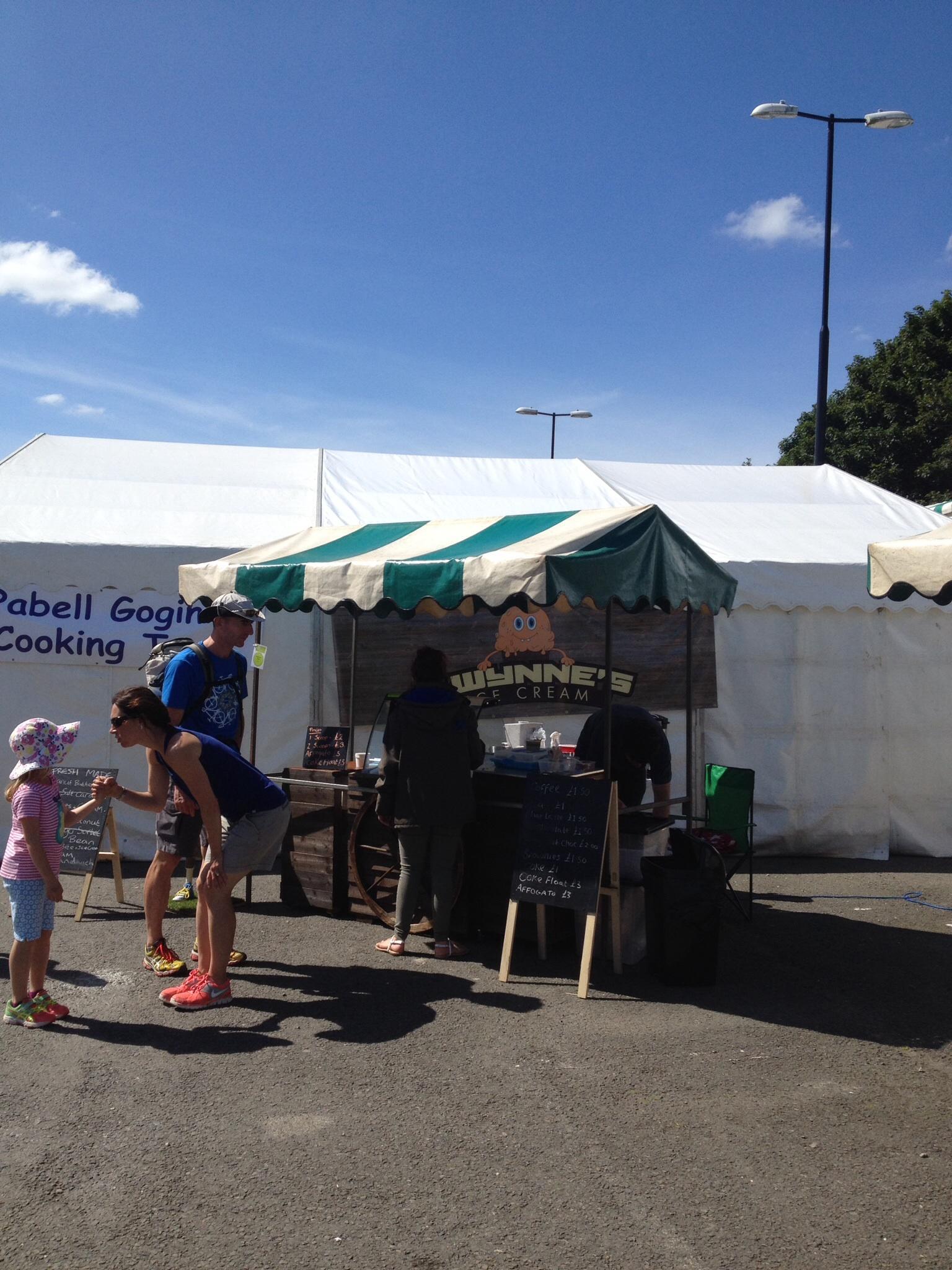 Gwynnes ice cream cardigan food festival