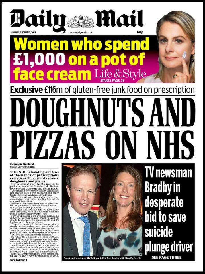 Daily mail coeliac